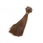 Волосы для кукол (трессы) Элит В-50 см L-15 см TBY66892 каштан