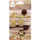 Набор декоративных элементов 7674 «Мудрые совушки» 6шт 699550