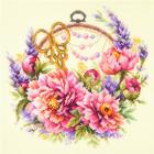 Набор для вышивания Чудесная Игла  №100-124 «Пионы для умелицы» 25*25 см