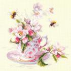 Набор для вышивания Чудесная Игла  №120-041 «Чашка с веткой яблони» 21*21 см