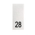 Размерники в пакетике (уп. 100 шт.) №28 белый