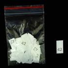 Размерники в пакетике (уп. 100 шт.) №42 белый