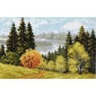 Рисунок на канве МП (28*37 см) 0698 «Осеннее очарование»