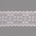 Кружево капрон  50 мм арт.7с1 (уп. 50 м)  белый с серебром