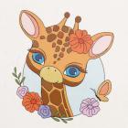 Набор для раскрашивания Molly KH0449  «Жирафик с цветами» 20*20 см