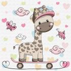 Набор для раскрашивания Molly KH0451  «Жирафик на скейтборде» 20*20 см