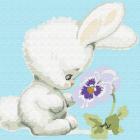Набор для раскрашивания Molly KH0452  «Зайчонок с цветком» 20*20 см