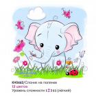 Набор для раскрашивания Molly KH0462  «Слоненок на полянке» 20*20 см