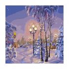 Набор для раскрашивания Molly KH0739  «Зимний вечер» 30*30 см