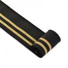 Подвяз трикотажный п/э TBY.MP13 с золотыми полосами 6*80 см черный