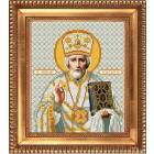 Рисунок для вышивания бисером Благовест И-4015 « Святой Николай Чудотворец в белом одеянии»20*25 см