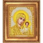 Рисунок для вышивания бисером Благовест И-4050 Казанская Божья матерь в золоте 20*25 см