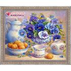 Алмазная мозаика АЖ-1370 «Фиалковый цвет» 50*40 см
