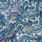 Ткань 50*50 см AR 1815 100% хлопок в розочки Астра гол. с зел. 7729664