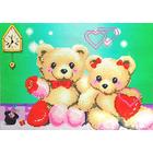 Алмазная мозаика 0527 «Влюбленные мишки»