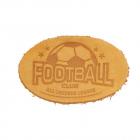 Термоаппликация Футбол 3,8*6 см дизайн №37  100% кожа бежевый 903541