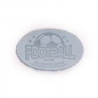 Термоаппликация Футбол 3,8*6 см дизайн №37  100% кожа голубой 903541