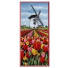 Набор для вышивания ANCHOR PCE806«Тюльпаны у мельницы» 32*14 см