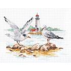 Набор для вышивания Алиса 3-30 «Отмель. Чайки» 19*14 см