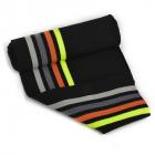 Подвяз трикотажный п/эTBY73053 черный со св.серой, серой, оранжевой и зеленой полосами 16*100см