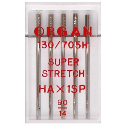 Иглы быт. маш. ORGAN супер стрейч №90 (уп. 5 шт.) в интернет-магазине Швейпрофи.рф