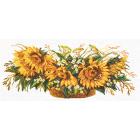 Набор для вышивания Матренин Посад 6010/СК «Корзина с подсолнухами» 40*90 см