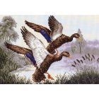 Рисунок на канве МП (37*49 см) 1146 «Утиная заводь»