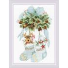 Набор для вышивания Риолис №1901 «Мишки, шишки и олень» 21*30см