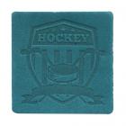 Термоаппликация Хоккей 5*5 см дизайн №51  100% кожа бирюза 552165