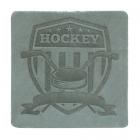 Термоаппликация Хоккей 5*5 см дизайн №55  100% кожа светло-серый 552165