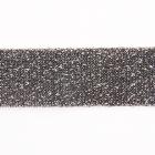 Тесьма 20 мм трикотажная лампасная  3AR422 с люрексом т. серебро  уп.10 м