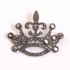 Украшение ГСХ469 52*63мм корона 900574 т.никель