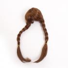 Волосы для кукол AR904 d10 см длина 29 см  см парик (косы) т.коричневый