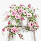 Набор для вышивания Luca-S ВА2331 «Розы на табурете» 30*30см