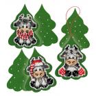 Набор для вышивания Риолис №1885АС «Три теленка» 7*10 см