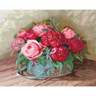 Набор для вышивания Сделай своими руками П-036 «Пионы и розы» 44*35 см