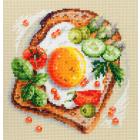 Набор для вышивания Чудесная Игла  №120-092 «Тост с яичницой» 16*16 см