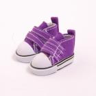 Обувь для игрушек (Кеды) 27020  5,0 см  выс.3,3 см на 2-х липах фиолетовый(1 пара)