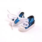 Обувь для игрушек (Кеды) AR 1053  3.5*4*7 см синий блестящие 7728280