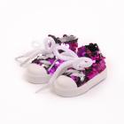 Обувь для игрушек (Кеды) AR 1053  3.5*4*7 см фиолетовый блестящие 7728280
