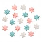 Бусины Астра пластик 7063# «Снежинки» 13*6 мм  15гр. 7728452