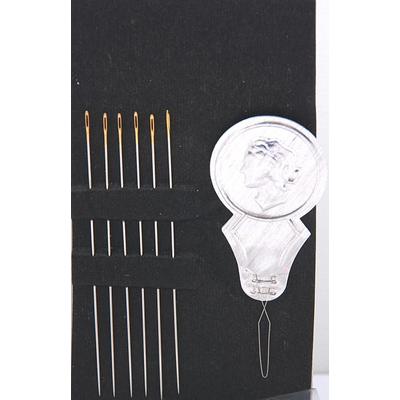 Иглы Гамма бисерные N-315 50 мм с нитковд. (наб. 6 игл) в интернет-магазине Швейпрофи.рф