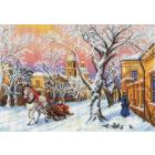 Рисунок на канве МП (37*49 см) 1695 «Зимний вечер»