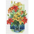 Рисунок на канве МП (37*49 см) 1707 «Лилии в вазе»