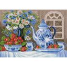 Рисунок на канве МП (37*49 см) 1809 «Клубничное чаепитие»