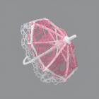 Зонтик кружевной AR759 17*18 см розовый 7728176