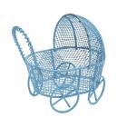Декор AR 124  Металл коляска 7*7см 7726964 голубой