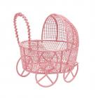 Декор AR 124  Металл коляска 7*7см 7726964 розовый