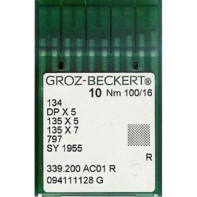Иглы пром. маш. Groz-Beckert 134/DP5 №100 (уп. 10 шт.) в интернет-магазине Швейпрофи.рф