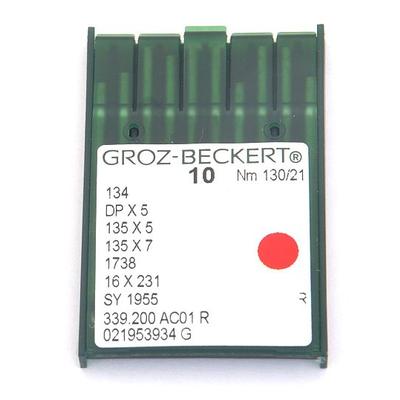 Иглы пром. маш. Groz-Beckert 134/DP5 №130 (уп. 10 шт.) в интернет-магазине Швейпрофи.рф